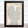 Jamie O'Neal Somebody's Hero Mother & Baby Song Lyric Music Art Print