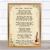 Neil Young Harvest Moon Song Lyric Vintage Music Wall Art Print