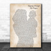 ABBA Slipping Through My Fingers Mother & Baby Decorative Gift Song Lyric Print
