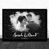 Landscape Smudge Black Grey Wedding Photo Any Song Lyric Wall Art Print