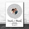 White Vinyl Record Wedding First Dance Photo Any Song Lyric Wall Art Print
