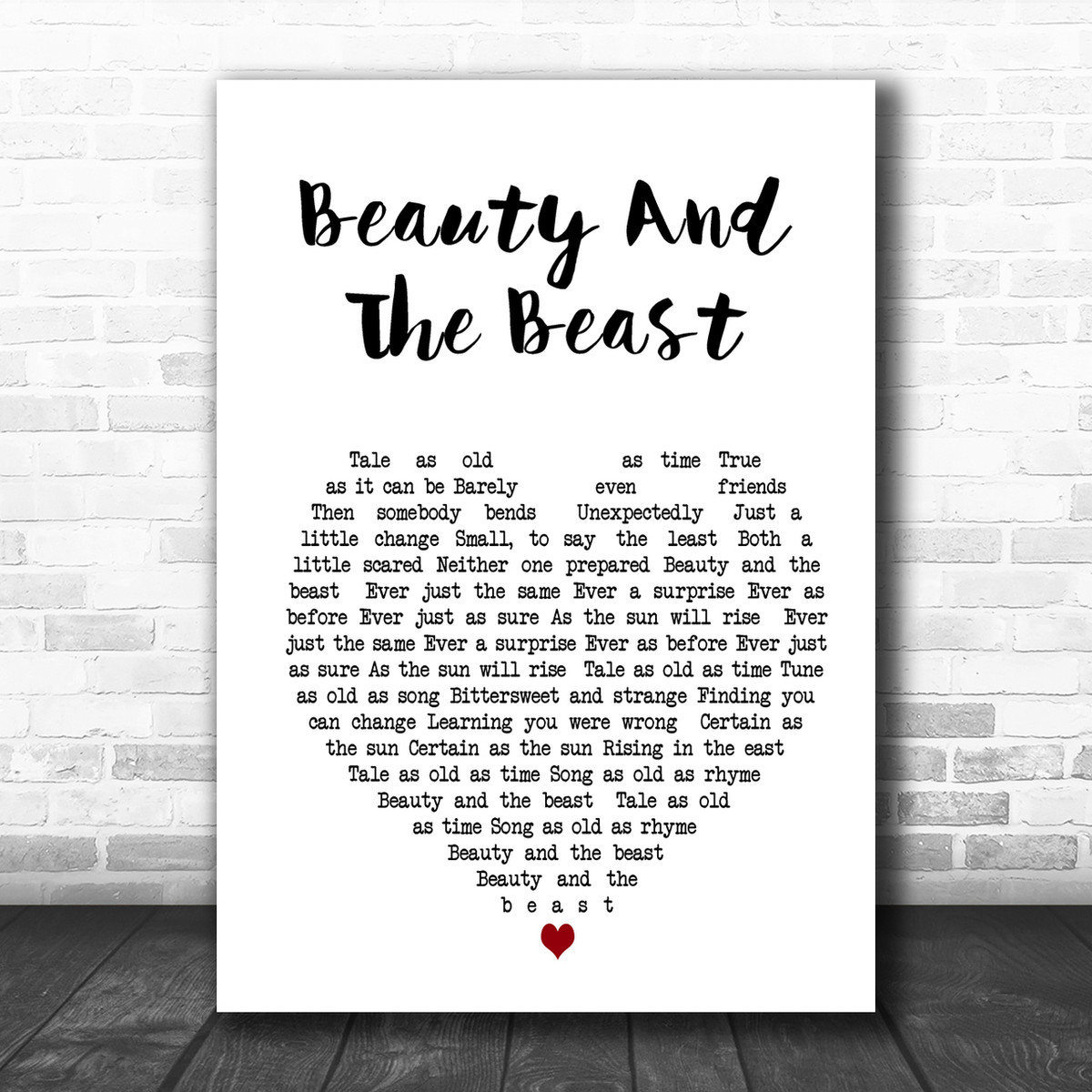 Beauty And The Beast Man Lady Dancing Song Lyric Quote Print