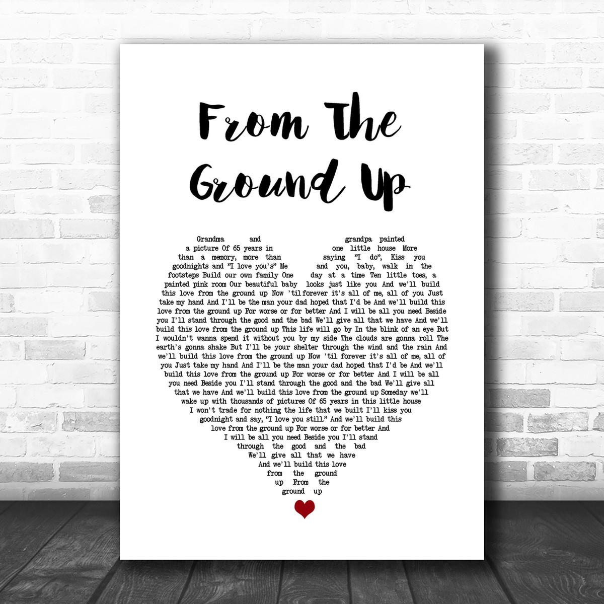 A life that/'s good Script Heart Song Lyric Print