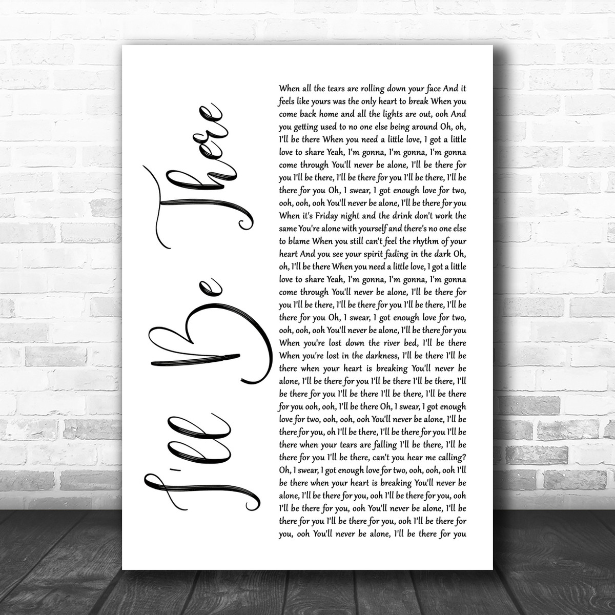 Truly Madly Deeply Grey Heart Song Lyric Quote Music Gift Wall Art Poster Print