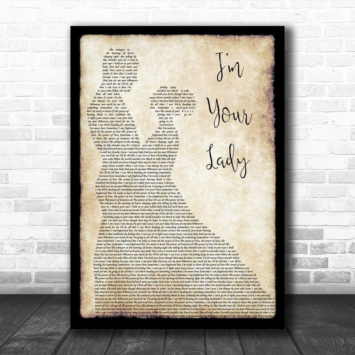 Somewhere Over The Rainbow Song Lyric Vintage Script Quote Print