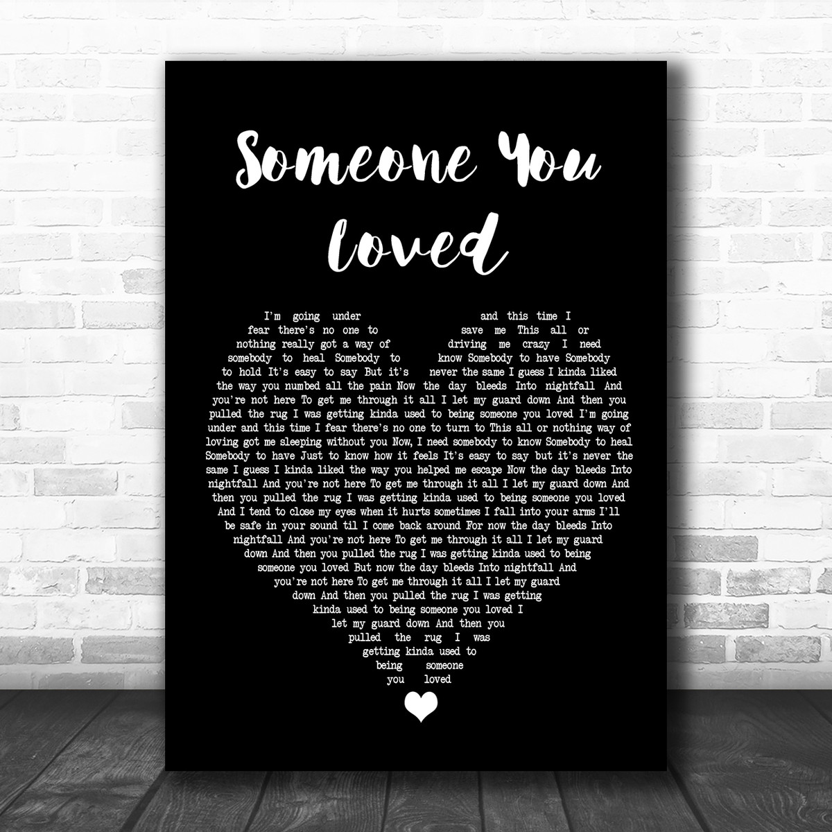 Lewis Capaldi Someone You Loved Black Heart Song Lyric Poster Print