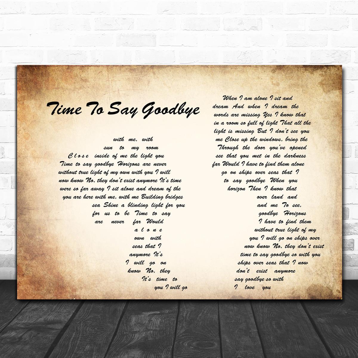 sarah brightman time to say goodbye man lady couple song lyric