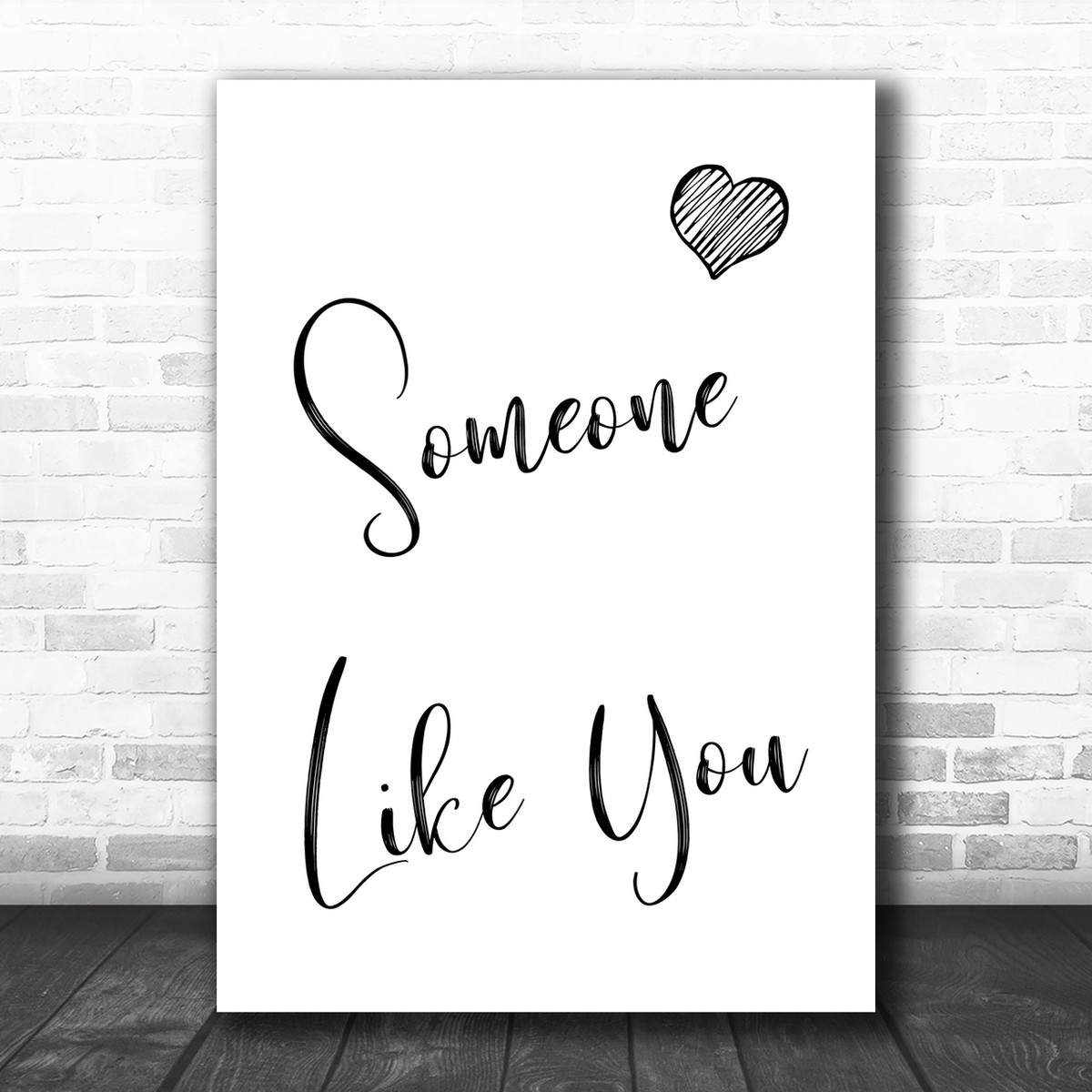 Adele Someone Like You Song Lyric Music Wall Art Print