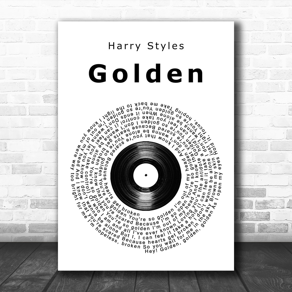 Harry Styles/' song Golden as a Drawing PRINT