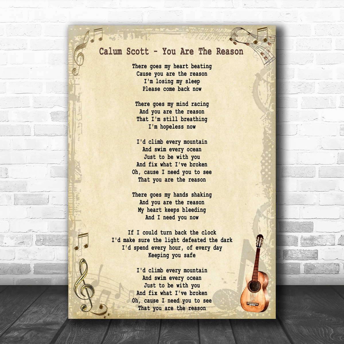 Need You Now Song Lyric Man Lady Dancing Quote Print