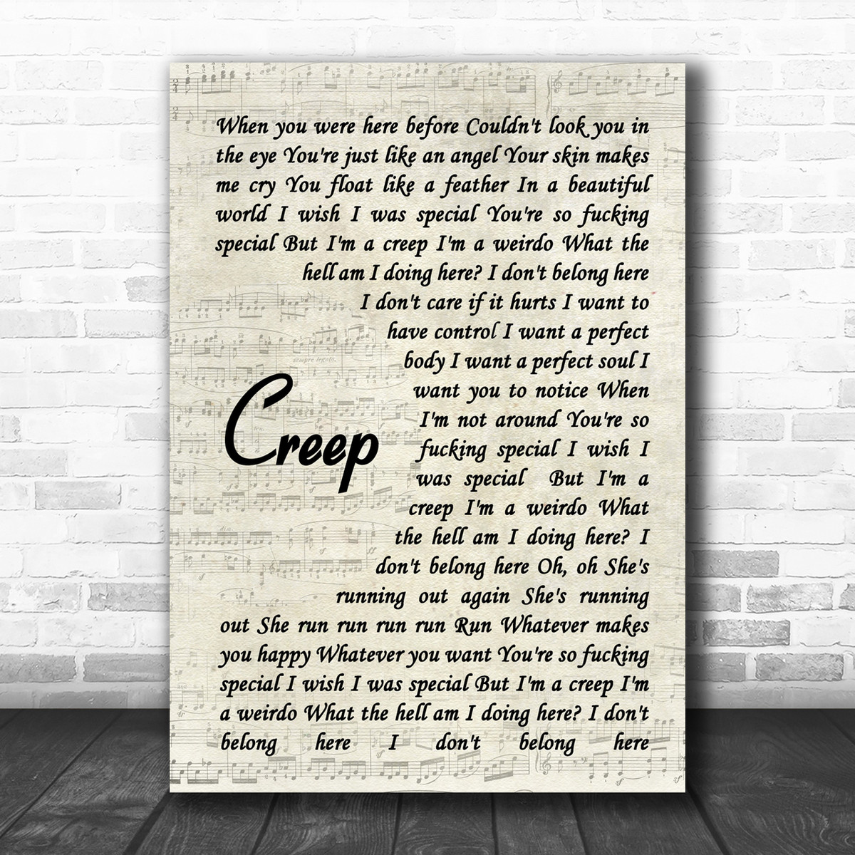 radiohead - creep lyrics