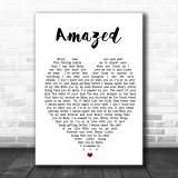Amazed Lonestar Song Lyric Heart Music Wall Art Print