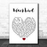 Blackbird The Beatles Song Lyric Heart Music Wall Art Print