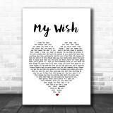 Rascal Flatts My Wish Heart Song Lyric Music Wall Art Print