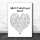 What A Wonderful World Louis Armstrong Heart Song Lyric Music Wall Art Print