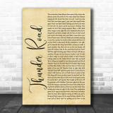 Bruce Springsteen Thunder Road Rustic Script Song Lyric Quote Print