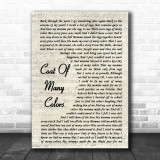 Dolly Parton Coat Of Many Colors Song Lyric Vintage Script Quote Print