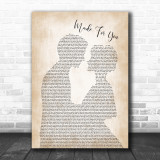 Jake Owen Made For You Man Lady Bride Groom Wedding Print
