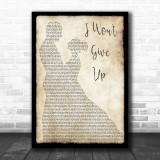 Jason Mraz I Won't Give Up Man Lady Dancing Song Lyric Quote Print