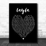 Layla Eric Clapton Black Heart Song Lyric Music Wall Art Print