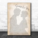 LANCO Greatest Love Story Man Lady Bride Groom Wedding Print