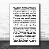 Linkin Park Given Up Song Lyric Quote Print