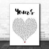 Russell Dickerson Yours Heart Song Lyric Quote Print