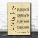 Staind Tangled Up In You Rustic Script Song Lyric Quote Print