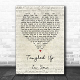 Staind Tangled Up In You Script Heart Song Lyric Quote Print