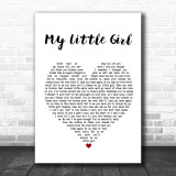 Tim McGraw My Little Girl Heart Song Lyric Quote Print