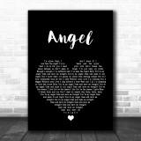 Aerosmith Angel Black Heart Song Lyric Music Wall Art Print