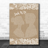 Vince Gill Look At Us Burlap & Lace Song Lyric Poster Print