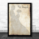 Brad Paisley We Danced Man Lady Dancing Song Lyric Poster Print