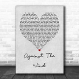 Bob Seger Against The Wind Grey Heart Song Lyric Poster Print