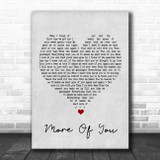 Chris Stapleton More Of You Grey Heart Song Lyric Poster Print