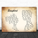 Fleetwood Mac Songbird Man Lady Couple Song Lyric Poster Print