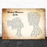 Keith Urban Making Memories Of Us Man Lady Couple Song Lyric Poster Print