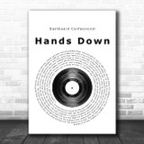 Dashboard Confessional Hands Down Vinyl Record Song Lyric Poster Print