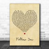 Bring Me The Horizon Follow You Vintage Heart Song Lyric Poster Print