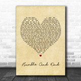 Tim McGraw Humble And Kind Vintage Heart Song Lyric Poster Print