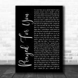 Matt Stell Prayed For You Black Script Song Lyric Music Poster Print