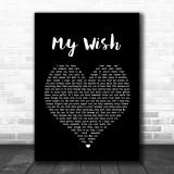 Rascal Flatts My Wish Black Heart Song Lyric Music Wall Art Print