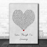 Luke Combs Even Though I'm Leaving Grey Heart Song Lyric Music Poster Print