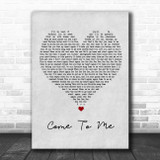 Goo Goo Dolls Come To Me Grey Heart Song Lyric Music Poster Print