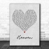Kane Brown Heaven Grey Heart Song Lyric Music Poster Print