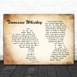 Chris Stapleton Tennessee Whiskey Man Lady Couple Song Lyric Music Poster Print