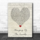 Bob Dylan Changing Of The Guards Script Heart Song Lyric Music Poster Print
