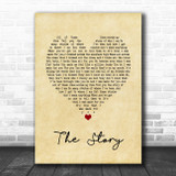 Brandi Carlile The Story Vintage Heart Song Lyric Music Poster Print