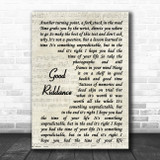 Green Day Good Riddance Vintage Script Song Lyric Music Poster Print