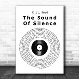 Simon & Garfunkel The Sound Of Silence Vinyl Record Song Lyric Music Poster Print